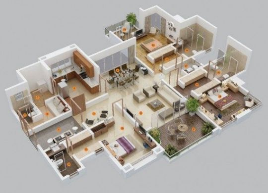 free-3-bedroom-house-plans-600x412